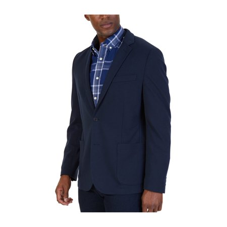 e238ad94 Nautica Mens Soft-Shoulder Two Button Blazer Jacket greyhtr XL - image 1 of  1 ...