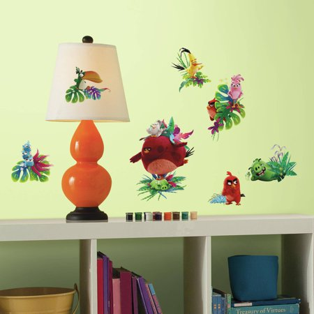 roommates decor angry birds the movie peel and stick wall decals. Black Bedroom Furniture Sets. Home Design Ideas