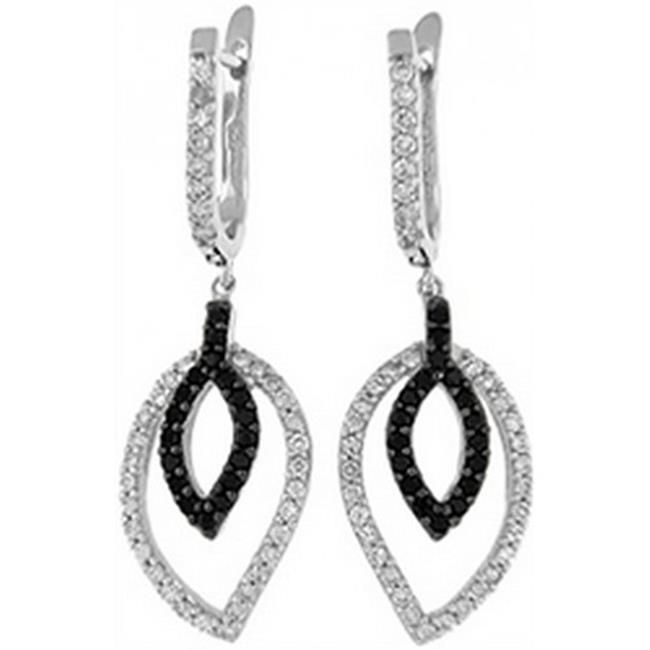 Doma Jewellery DJS02079 Sterling Silver (Rhodium Plated) Earrings with CZ - 43mm Height