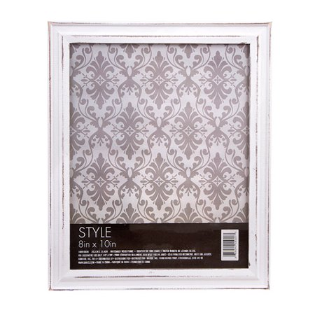 Picture Frame - Whitewash Wood - 8 x 10 inches ()
