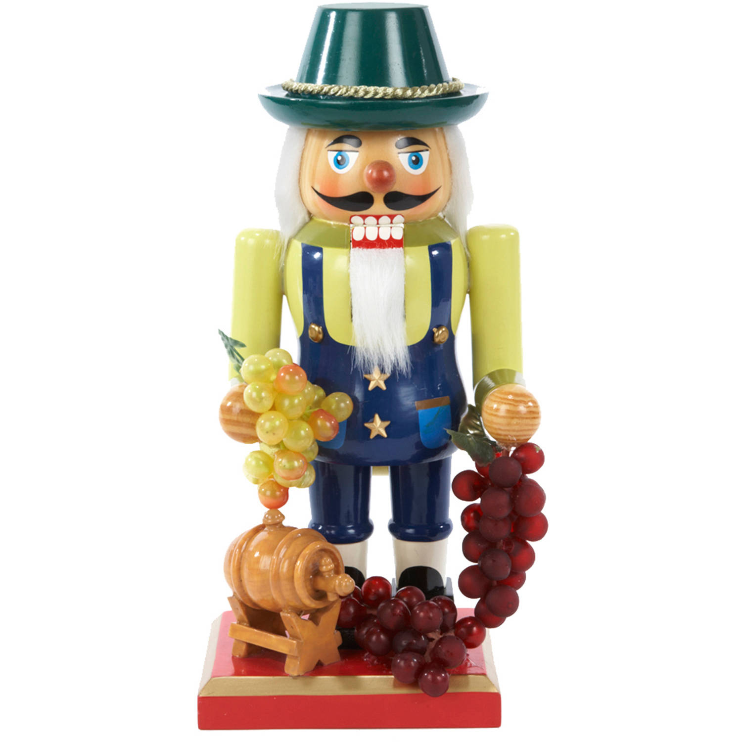 "Kurt Adler 10.25"" Wooden Winemaker Nutcracker"