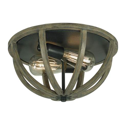"Murray Feiss FM400 Allier 7"" Height 2 Light Flush Mount Ceiling Fixture"