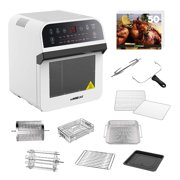 GoWISE USA Deluxe 12.7-Quarts 15-in-1 Electric Air Fryer Oven White