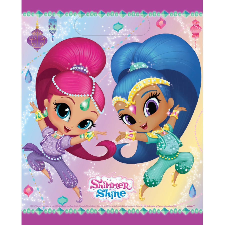Plastic Shimmer and Shine Goodie Bags, 9 x 7 in, 8ct