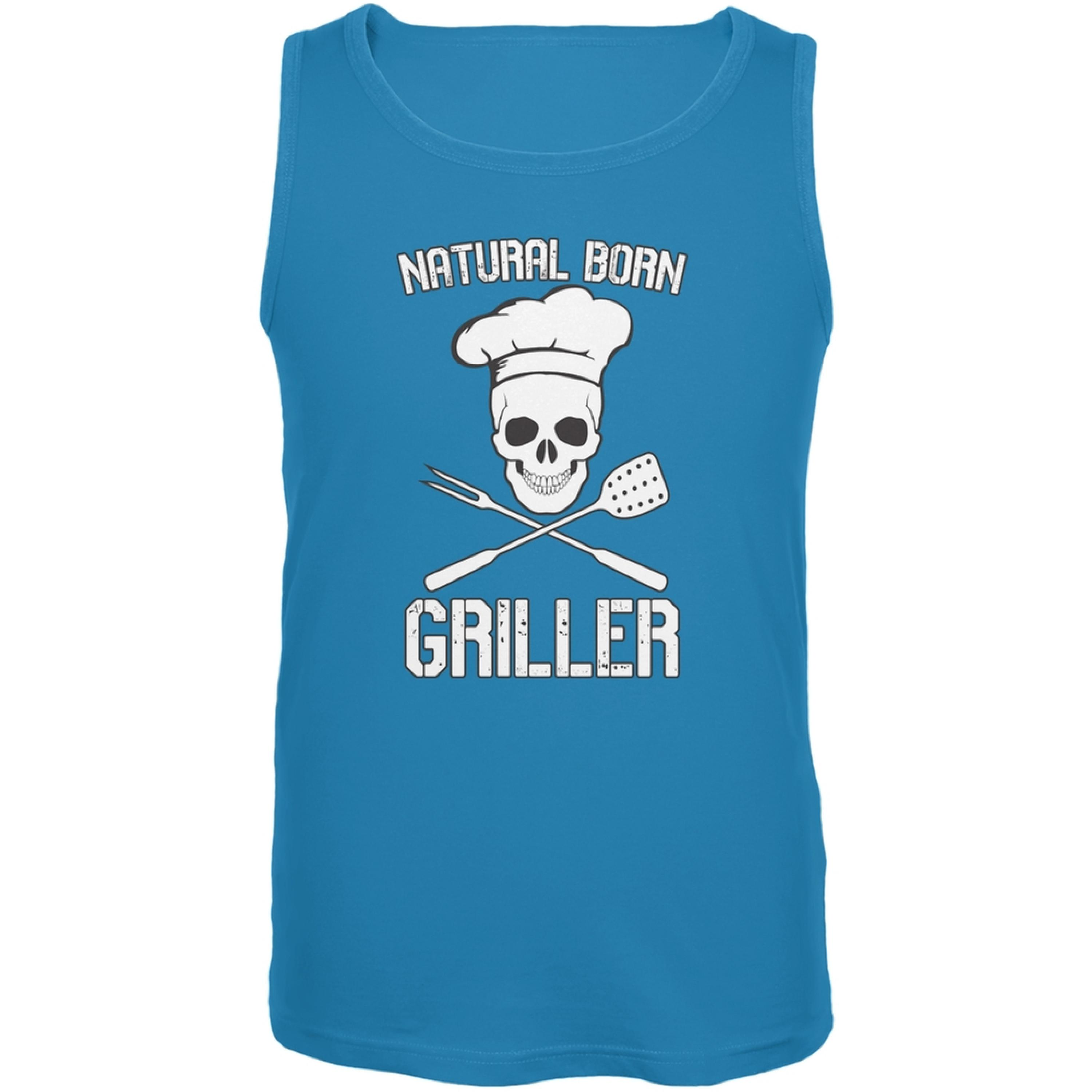 Natural Born Griller Turquoise Adult Tank Top