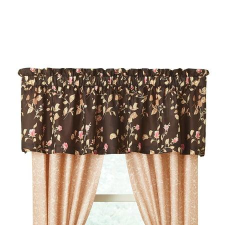 Capri Valance (Capri Floral Rod Pocket Window Curtains, Valance, Multi )