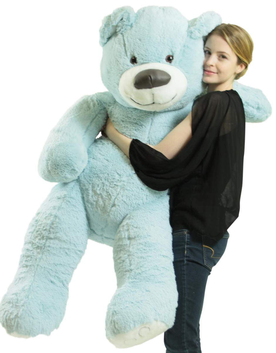 American Made Giant Blue Teddy Bear Soft 55 Inches Almost 5 Feet Tall by BigPlush