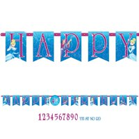 Cinderella Add-An-Age Letter Banner (Each) - Party Supplies