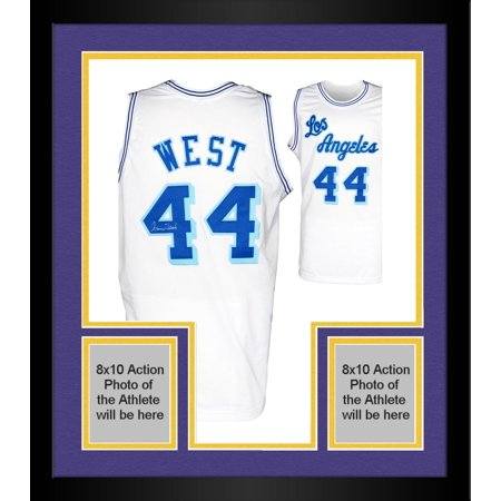 a547fb01e Framed Jerry West Los Angeles Lakers Autographed Jersey - Walmart.com