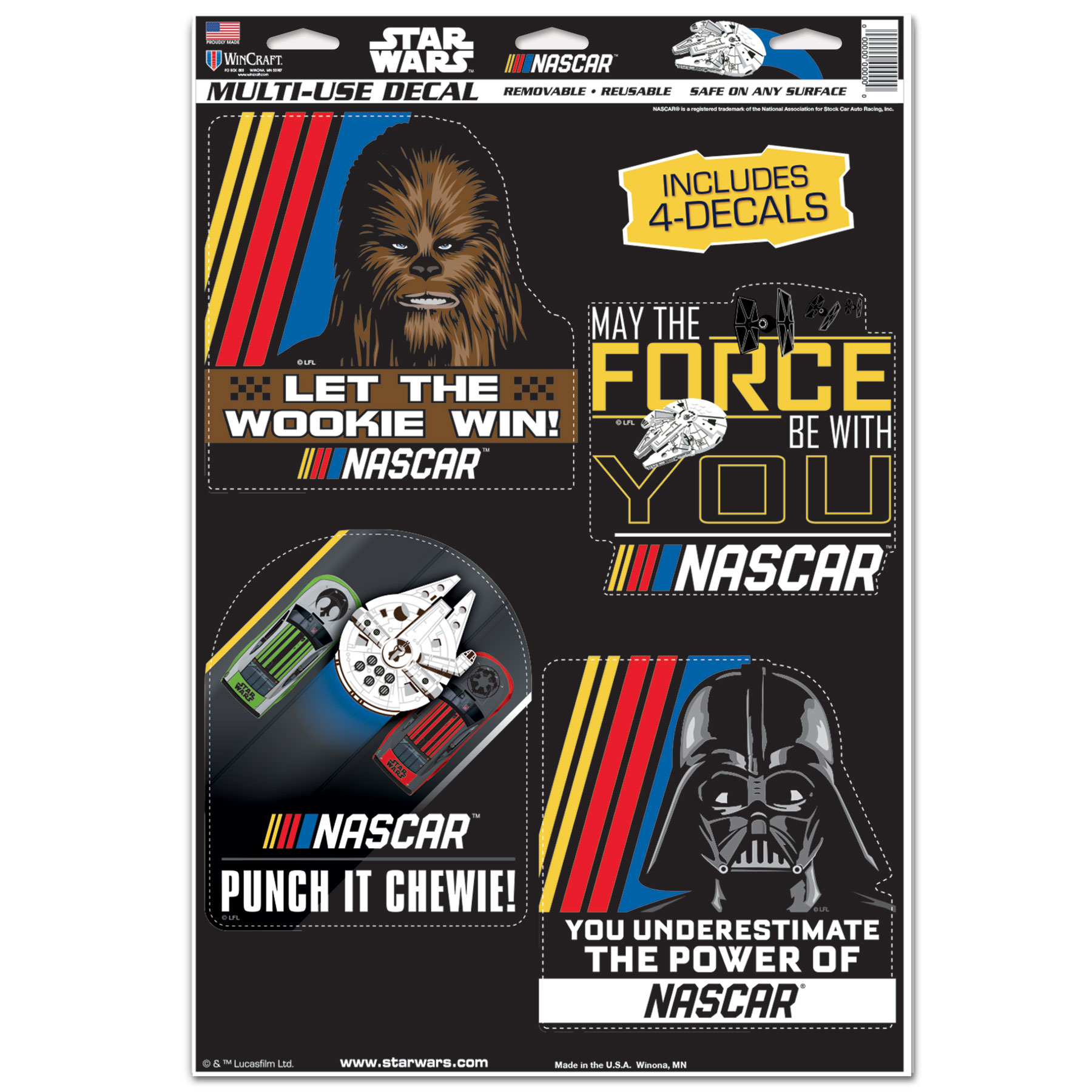 "NASCAR WinCraft 11"" x 17"" Multi-Use Decal - No Size"