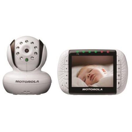 "Motorola MBP36 Wireless 2.4 GHz Digital Video and Audio Baby Monitor with 3.5"" Color LCD Screen with Pan and Zoom"