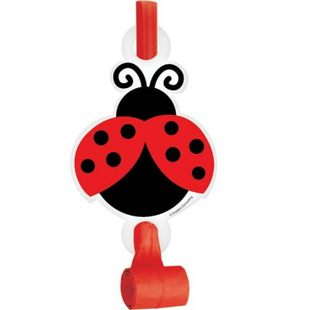 Access Ladybug Fancy Blowouts With Medallion, 8 Ct