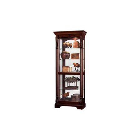 Bernadette Glass Shelves Cabinet in Hampton Cherry Finish
