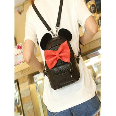 2017 New Mickey Backpack Female Mini Bag Women's Backpack](Mini Book Bags)