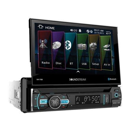 SoundStream VR-75B 1 DIN Audio System with DVD CD/MP3 AM/FM Receiver & Bluetooth