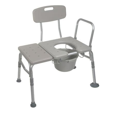 Drive Medical Combination Plastic Transfer Bench with Commode ...