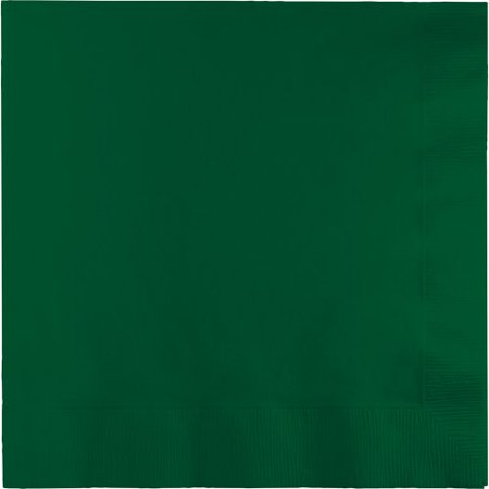 Creative Converting Paper Napkins, 3-Ply Dinner Size, Hunter Green Color, 25-Count Packages (Pack of 5) (Royal Paper Converting)