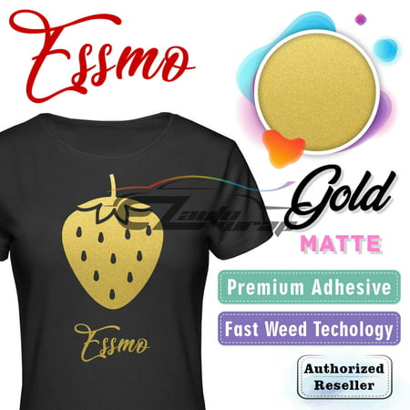 ESSMO GOLD Matte Solid Heat Transfer Vinyl HTV Sheet T-Shirt 20