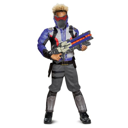 Overwatch Soldier 76 Classic Muscle Teen Halloween Costume (Woman Soldier Costume)