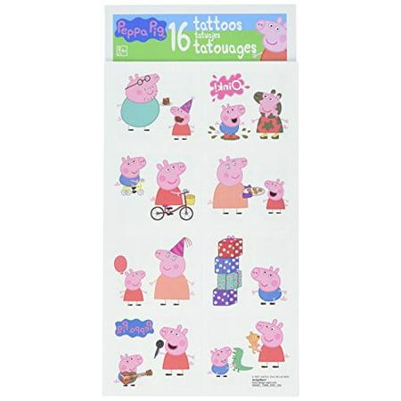 Peppa Pig Children\'s Temporary Tattoos Gift Pack - Walmart.com