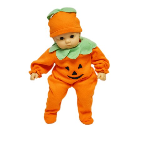 My Brittany's Pumpkin Costume For American Girl Dolls and Bitty Baby - Baby Doll Costume Halloween