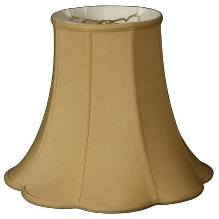 "Royal Designs 16"" Bottom Outside Scallop Bell Lamp Shade Antique Gold"