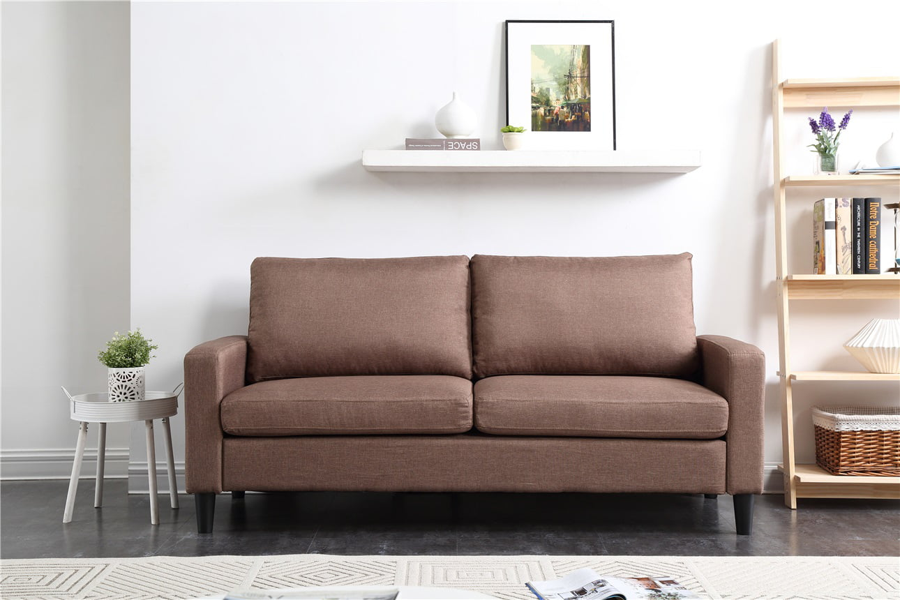 """74"""" Track Arm Sofa with Linen Textured Fabric by Nathaniel Home, Inc."""