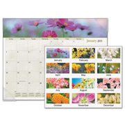 Ataglance 89805 Recycled Floral Panoramic Desk Pad, Jan-Dec, Desk Pad, 22 x 17, 2016
