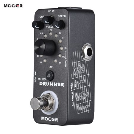 Machine Guitar Effects - MOOER MICRO DRUMMER Digital Drum Machine Guitar Effect Pedal With Tap Tempo Function True Bypass Full Metal Shell