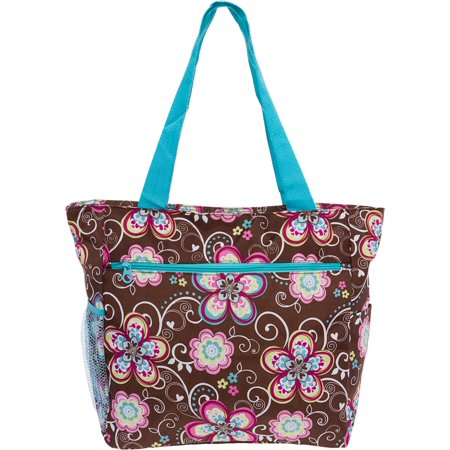 Womens Large Print Beach Tote Shopper Weekender School Gym Travel Bag (Tall Tote Shopper)