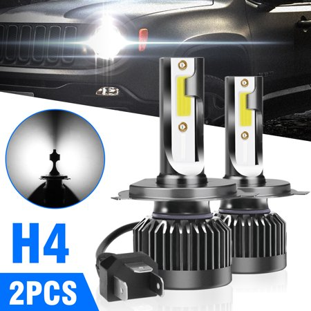 - H4/9003 LED Motorcycle Headlight bulbs, TSV Hi/Lo Beam Replacement Conversion Kit Headlamp Single Bulb 12000LM 12V HID White 6000K