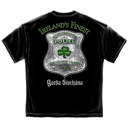 Men's Irish Police Shrit - Emerald Society Law Enforcement Irish Cop Shirt Black - Large](Cop Shirt)