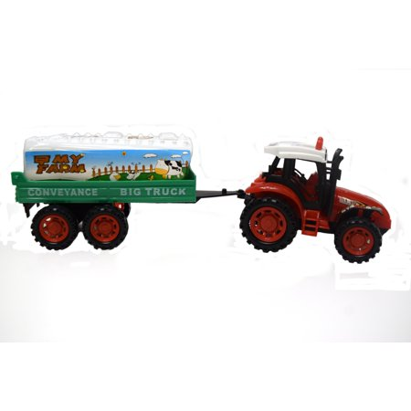 - Farm Tractor Construction Toy Tractor Truck Trailer Vehicle Toy-2009-80