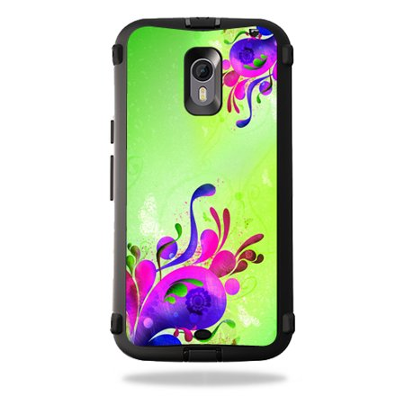 MightySkins Protective Vinyl Skin Decal for OtterBox Defender Moto X Pure Edition wrap cover sticker skins Pastel Flourish