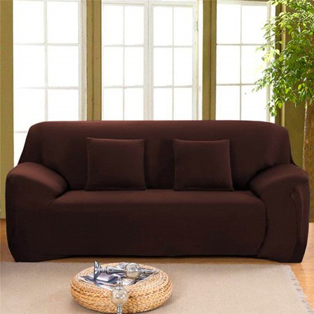 Dilwe Couch Cover 1 2 3 4 Piece Durable Soft Stretch Slip Resistant Fabric  Sofa Cover Furniture Protector with Anti-Slip Slipcover for Living Room