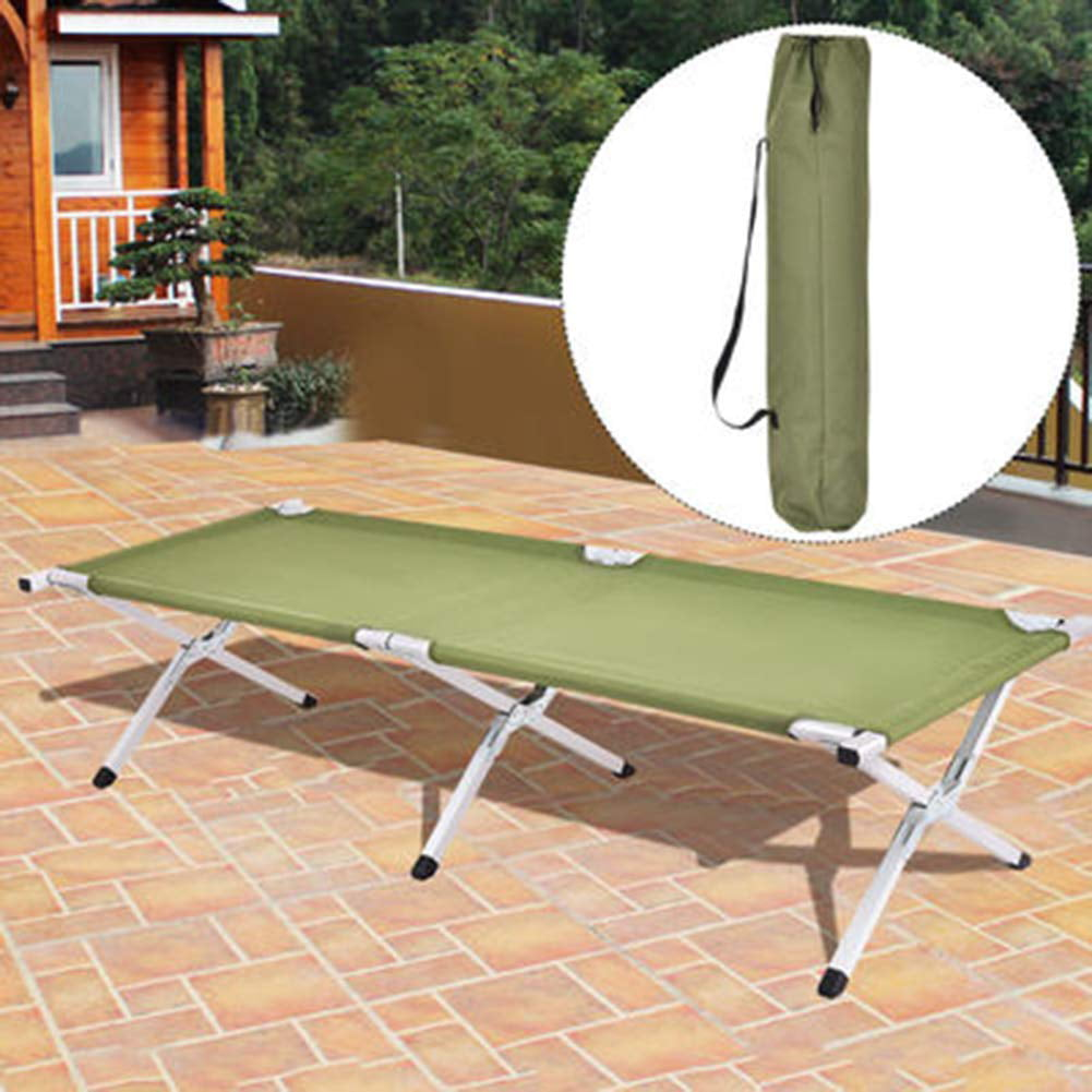 """75"""" Lightweight Portable Military Fold Up Camping Bed Cot ..."""