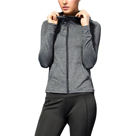 Ladies Women Plus Size Active Wear Full Zip Jackets Outwear Hoodies Zippper Jackets With Pockets Long Sleeve, Fitness Sports Running Jogging Workout Coat Casual Athletic Tops Full Sleeved Beaded Jacket