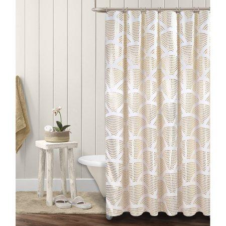 Mainstays Sunrise Metallic Shower Curtain - Walmart.com