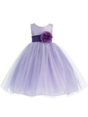 4b4ea4827b5 Product Image Baby Girls Lilac Purple Sash Poly Silk Tulle Flower Girl  Dress 6-12M. Sophias Style