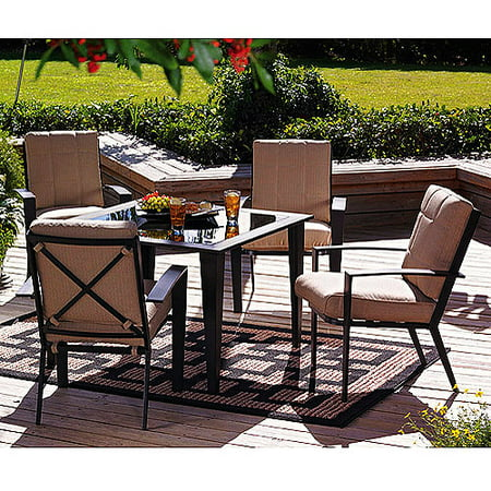 Home trends aluminum dining set w cushions Home trends patio furniture replacement cushions