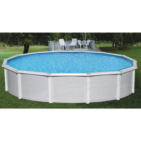 "BlueWave NB1641 15' Round 52"" Samoan Steel Pool With 8"" Toprail"