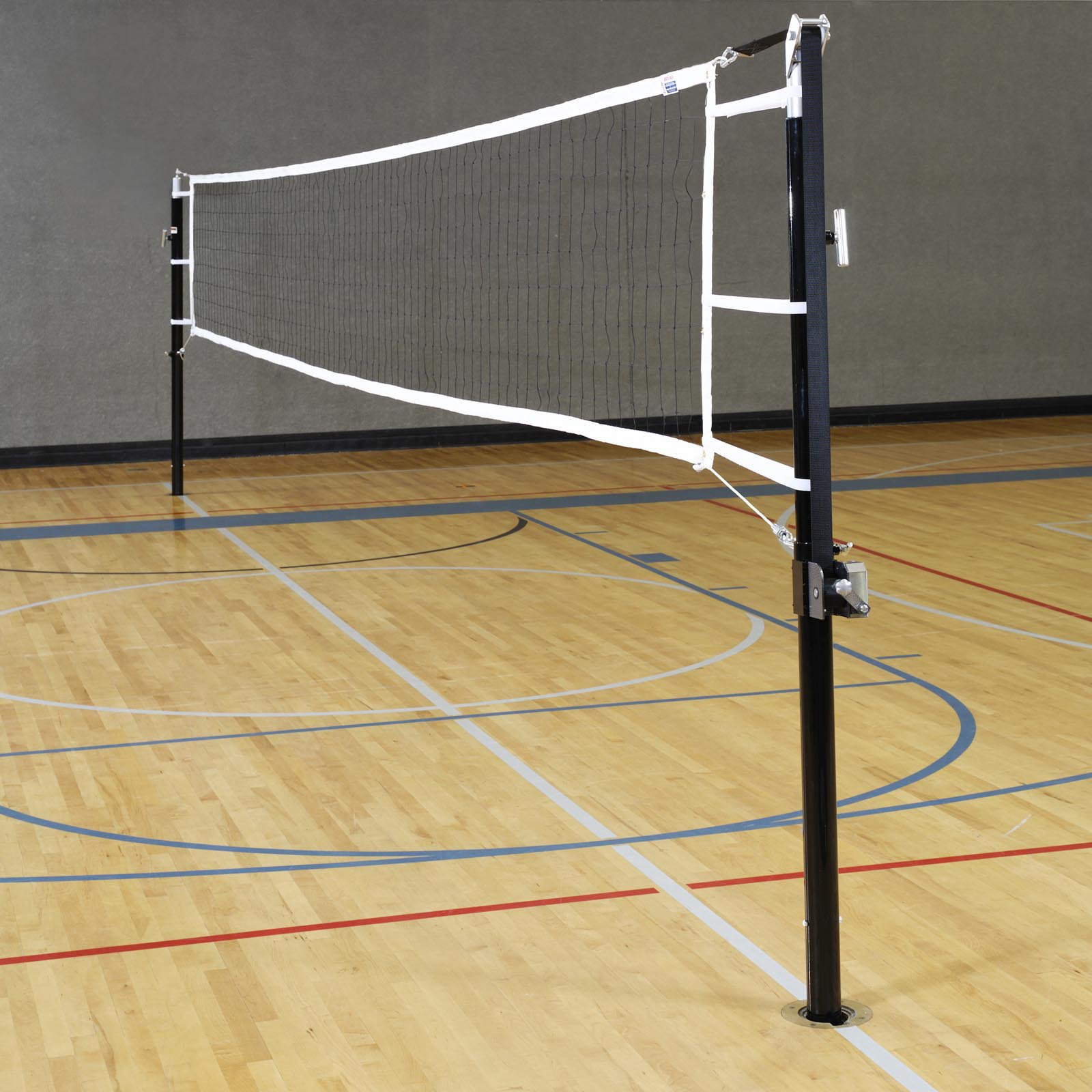 Stackhouse Regulation Volleyball Standards & Net System - Steel