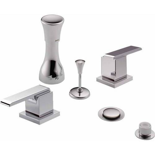 Delta Classic Bidet Fitting Kit Deck-Mounted Vertical Spray with Addison Metal Lever Handles, Available in Various Colors