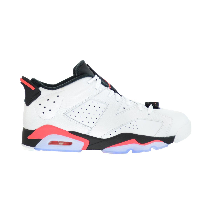 Air Jordan 6 Retro Low Men s Basketball Shoes White Infrared 23 ... 6f938db95f59