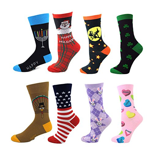 Absolute Stores Ladies Holiday Socks Pack - 8 Pairs