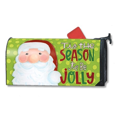 Mailboxes St Louis - Magnet Works Jolly St. Nick Magnetic Mailbox Wrap Cover