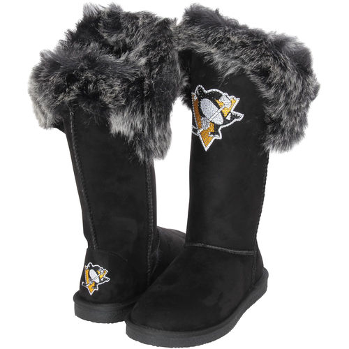 Women's Cuce Black Pittsburgh Penguins Devoted Boots by Cuce Shoes
