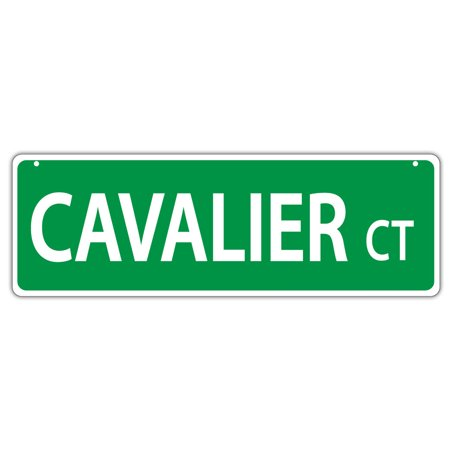 Plastic Street Signs: CAVALIER COURT (KING CHARLES SPANIEL) | Dogs