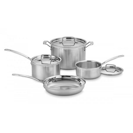 - Cuisinart MultiClad Pro Triple Ply Stainless 7-Piece Cookware Set