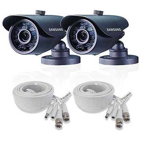 Samsung SDC-5440BCD In/Out Bullet Camera, 2pk, Black